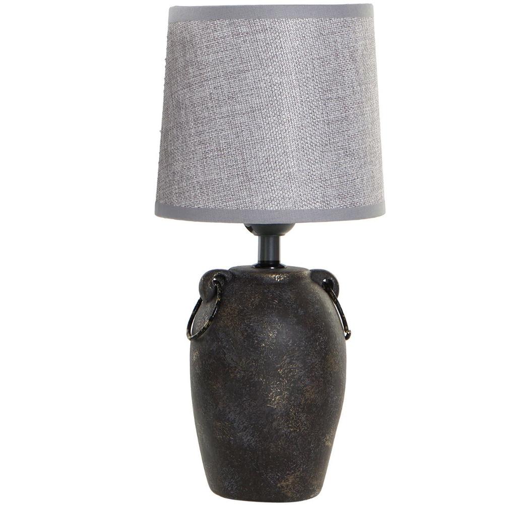 Grande lampe en porcelaine marron H32cm