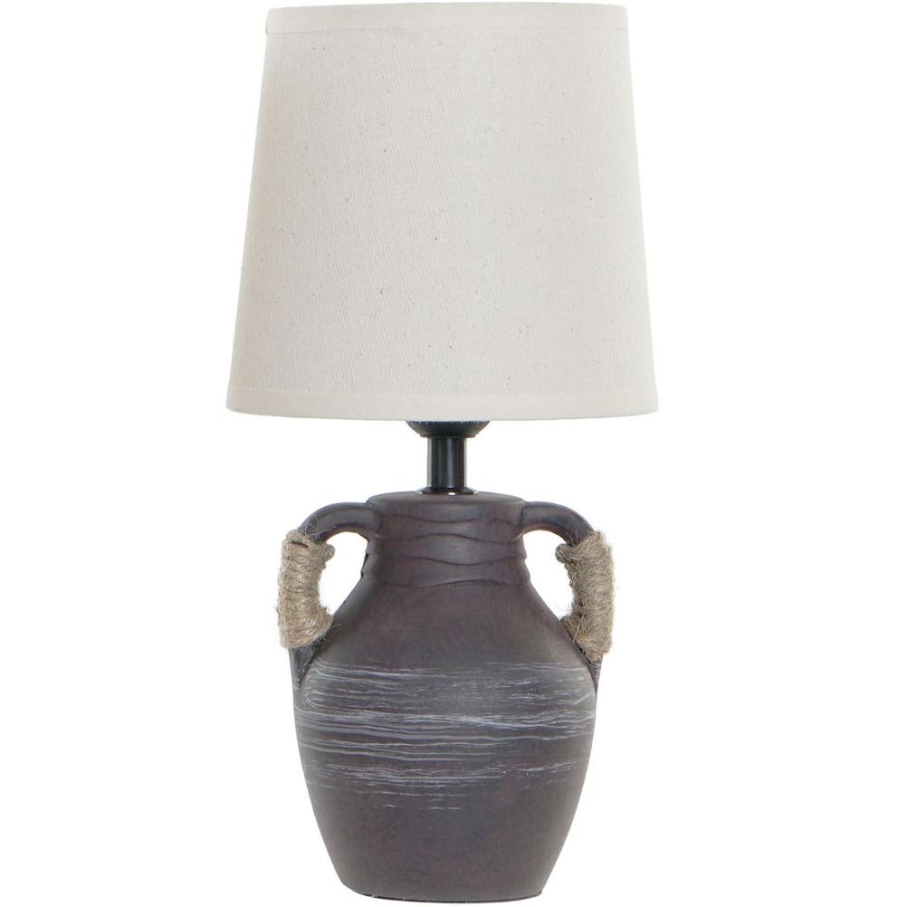 Grande lampe en porcelaine marron H33cm