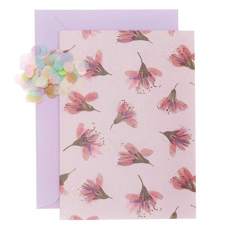 Carte fleurs de cerisier DIY à personnaliser
