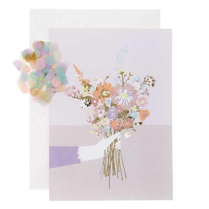Carte florale bouquet DIY à personnaliser