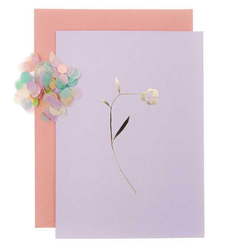 Carte florale lilas DIY à personnaliser