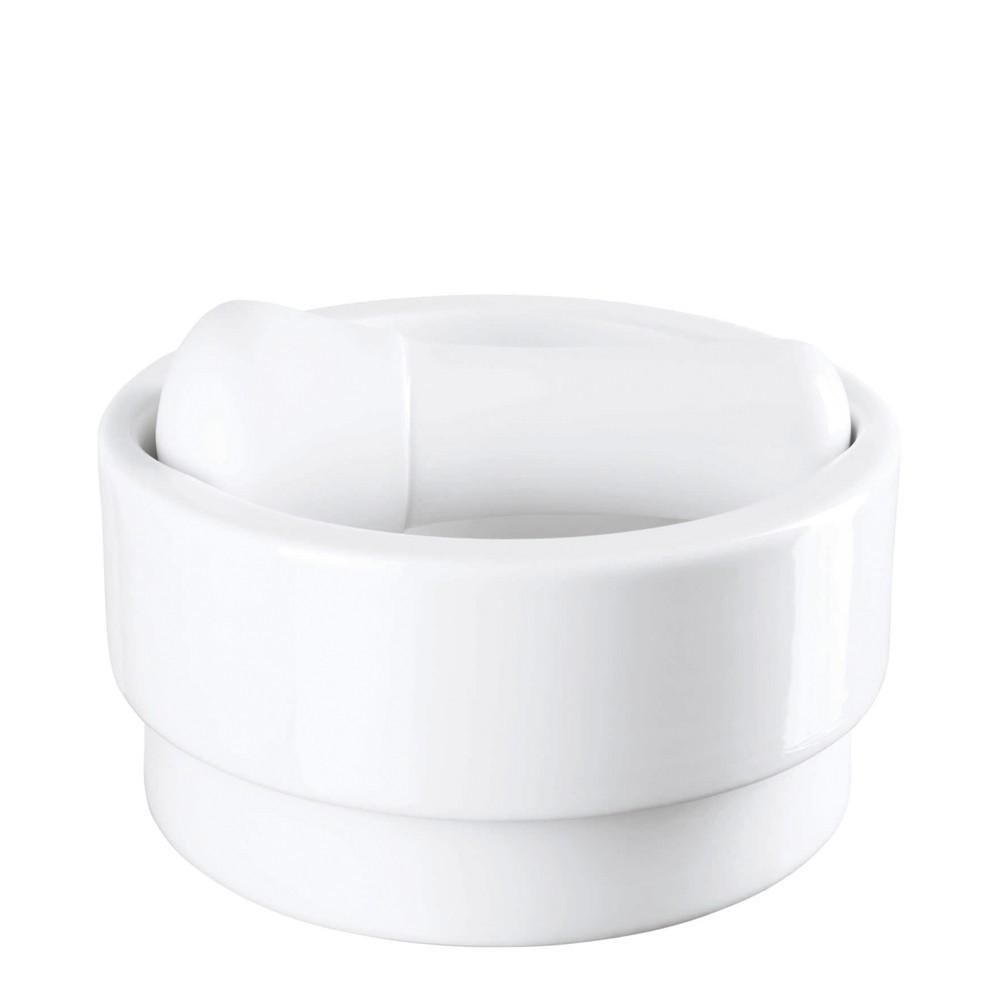 Mortier et pilon en porcelaine