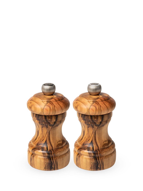 Duo moulins poivre et sel manuels en bois d'olivier H10cm