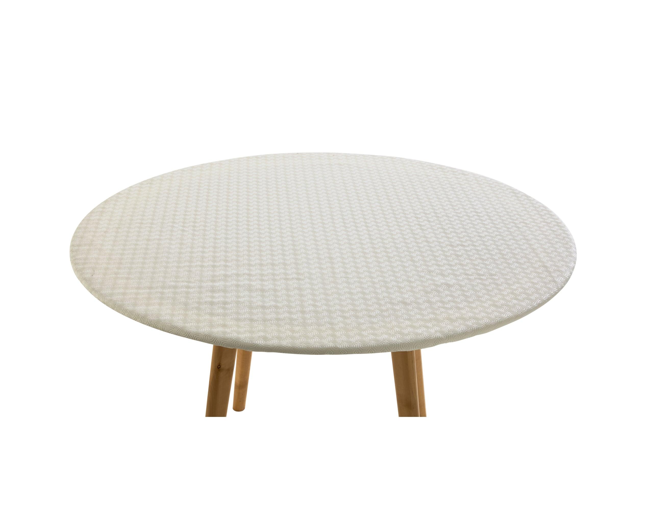 Protège-table ovale blanc 145x190