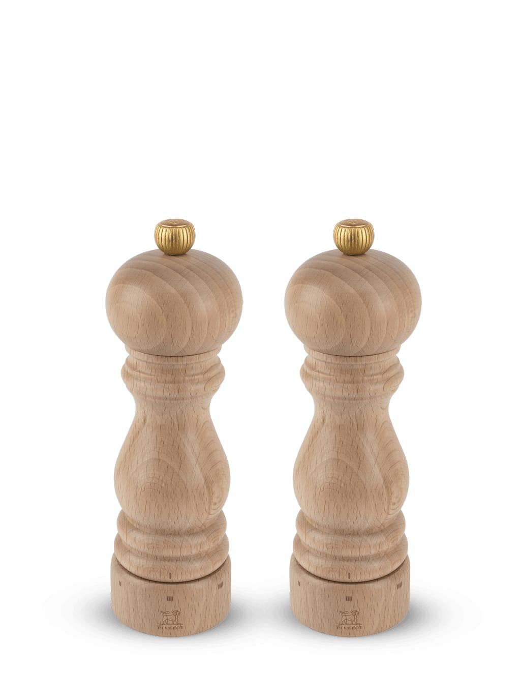 Duo de moulins à poivre et à sel bois naturel H18cm