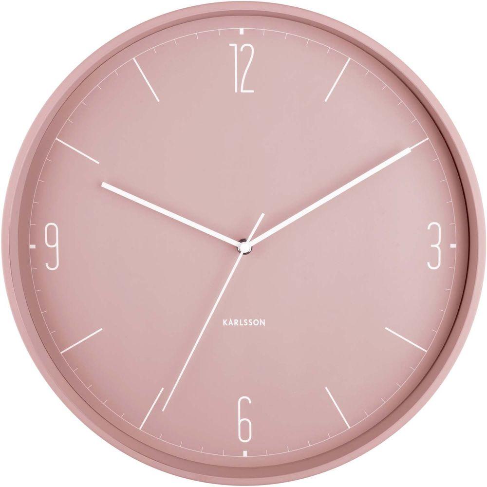 Horloge Numbers & Lines rose D40