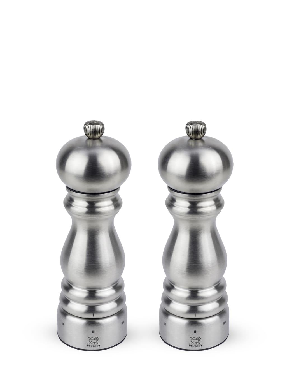 Duo de moulins à poivre et à sel en inox u'select H18cm