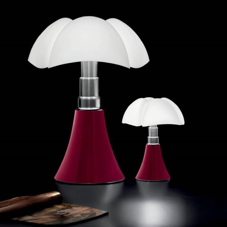 Lampe LED rouge avec variateur H35cm