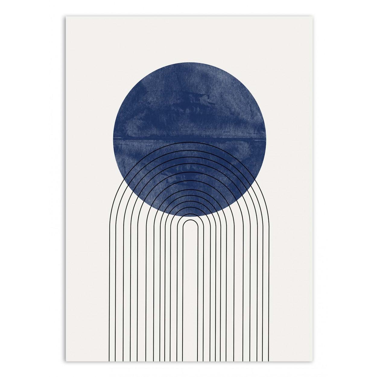 BLUE SUN - MIUUS STUDIO -  Affiche d'art 50 x 70 cm
