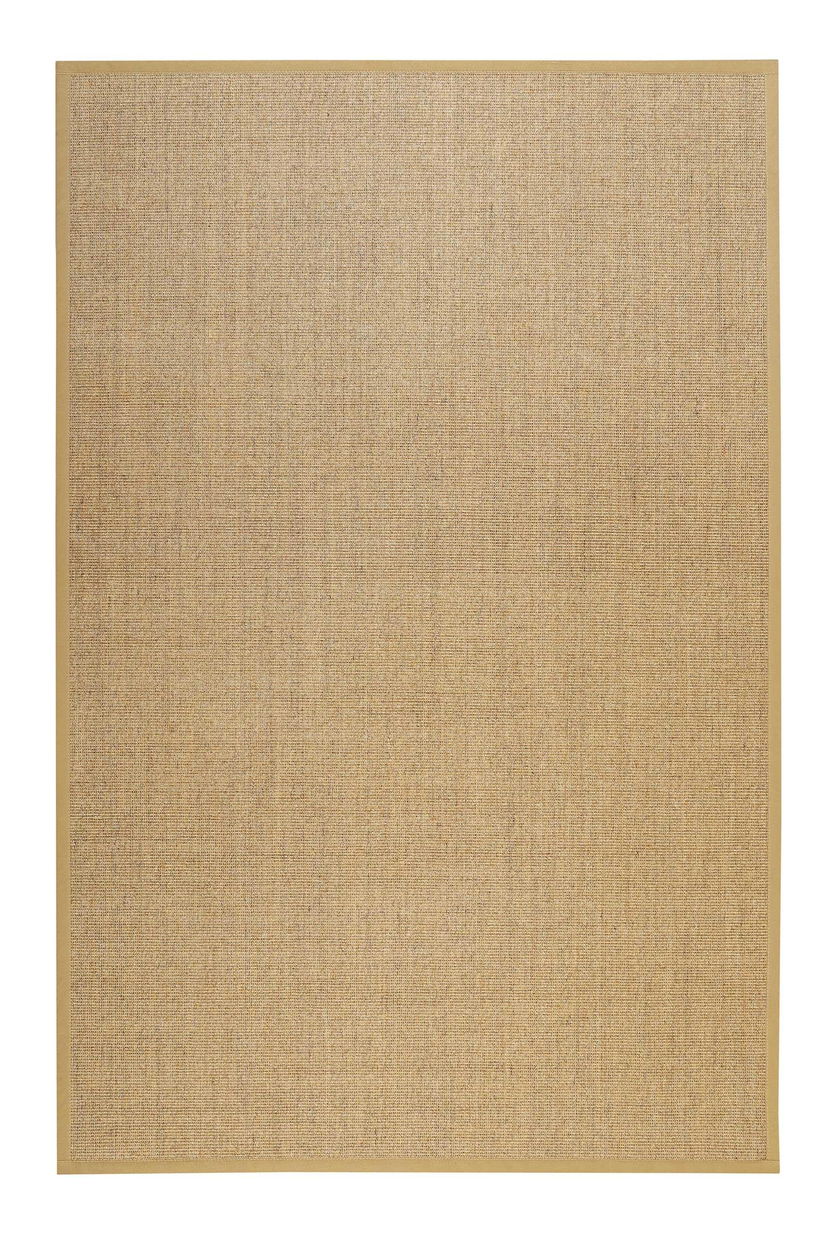Tapis intemporel en sisal beige antidérapant 133x200