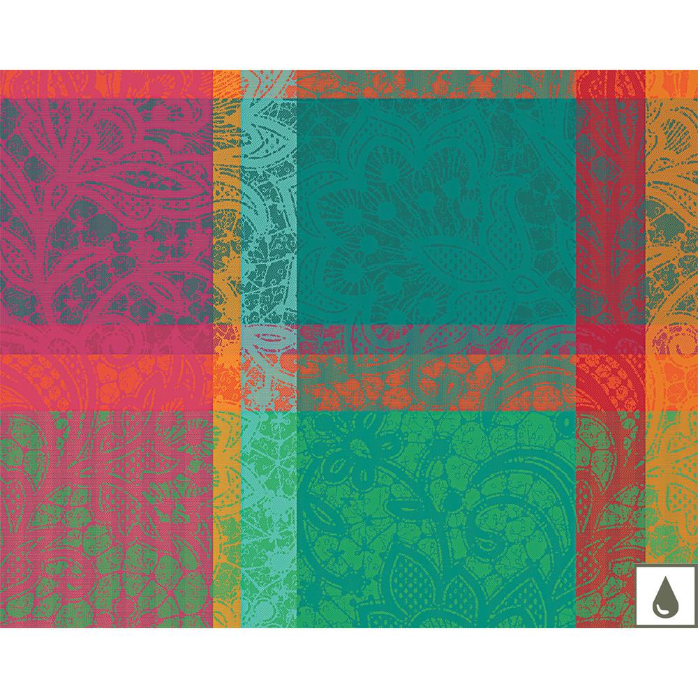 Set enduit imperméable pur coton multicolore 40X50