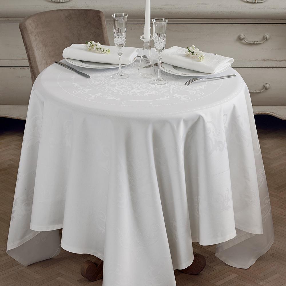 Nappe antitache déperlant pur coton blanc 174X254
