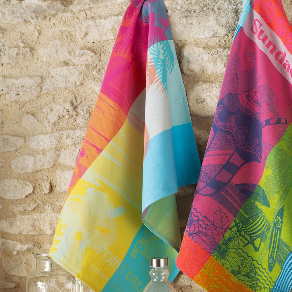 Torchon  pur coton multicolore 56x77