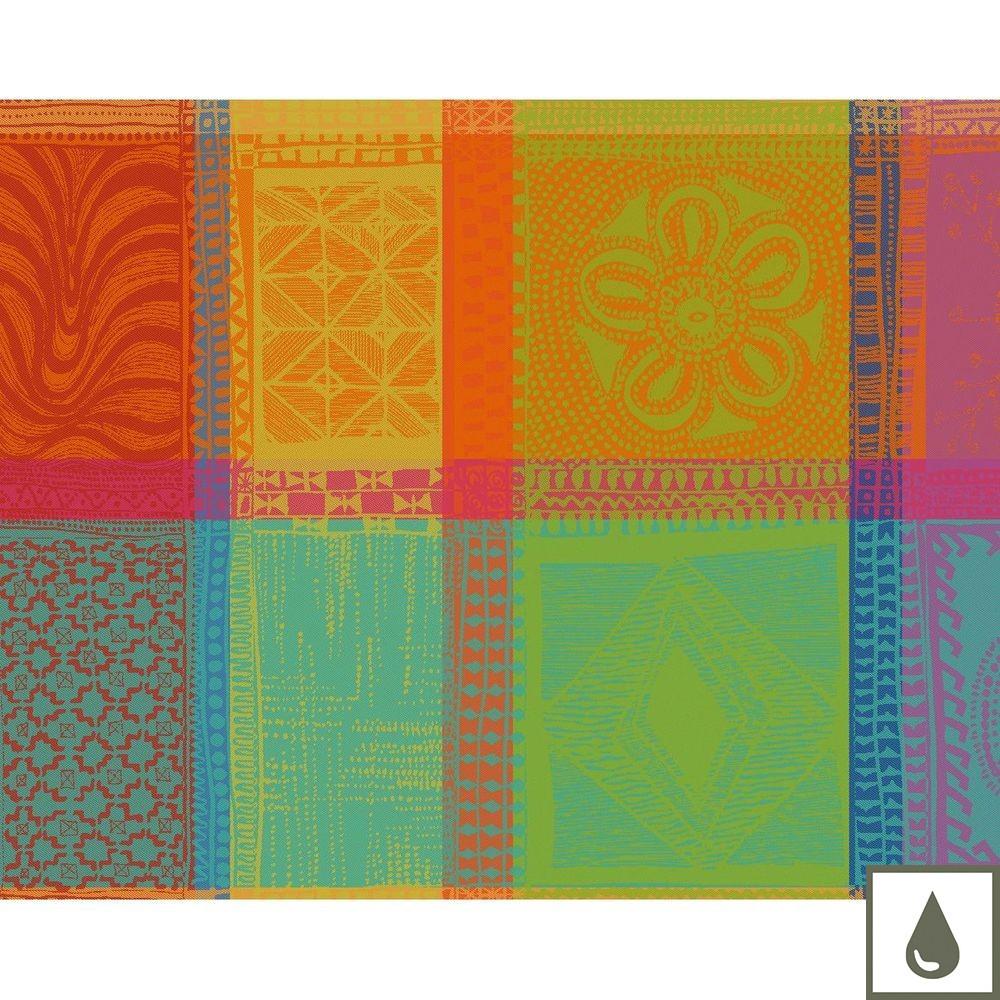 Set enduit imperméable pur coton orange 40X50