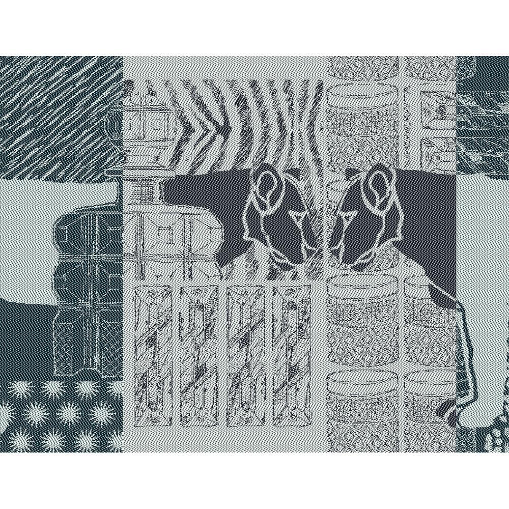 Set antitache déperlant pur coton noir 35x45