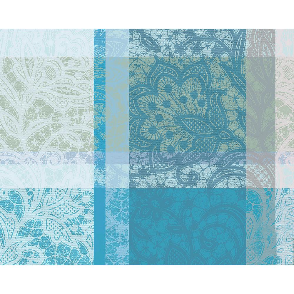 Set enduit imperméable pur coton vert 40X50