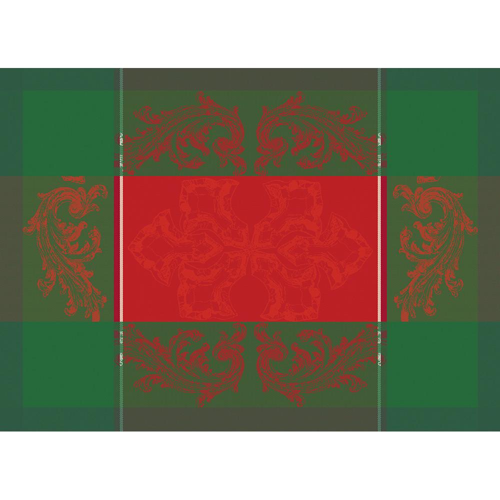 Set antitache déperlant pur coton rouge 55X40