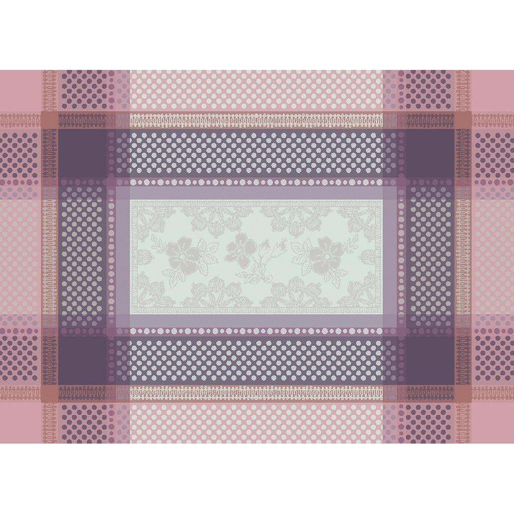Set antitache déperlant pur coton violet 55X40