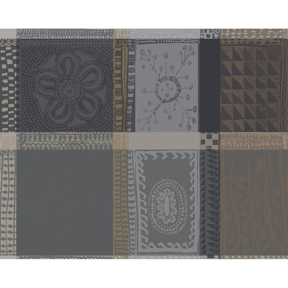 Set pur coton anthracite 40X50