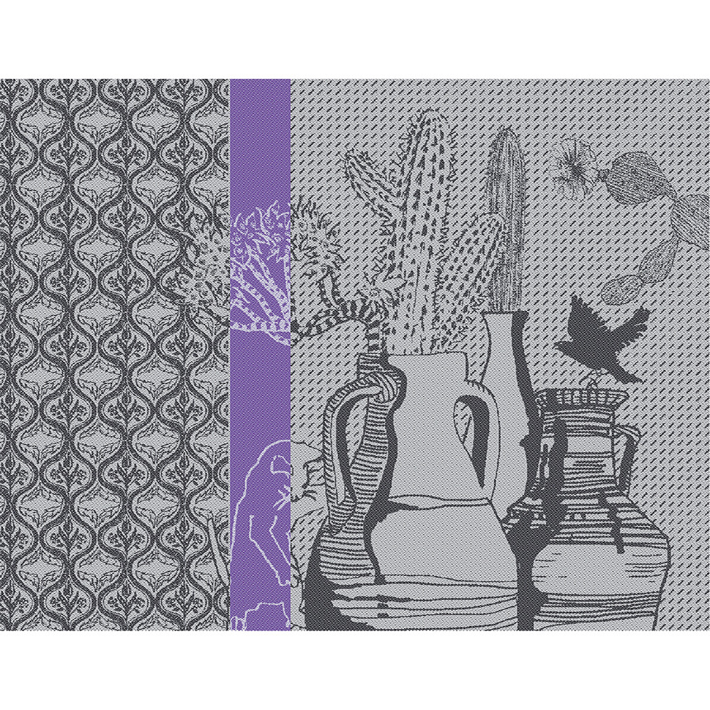 Set antitache déperlant pur coton gris 35x45