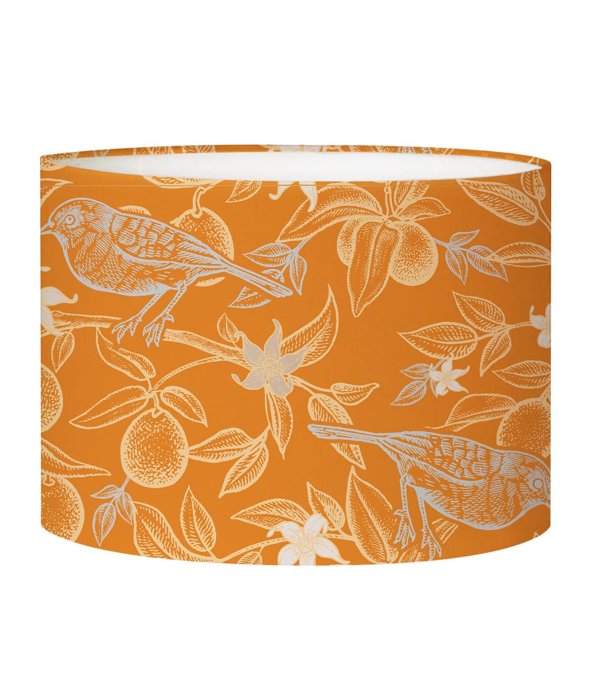 Abat-jour Lampadaire oiseau orange acidulé D 45 x H 25