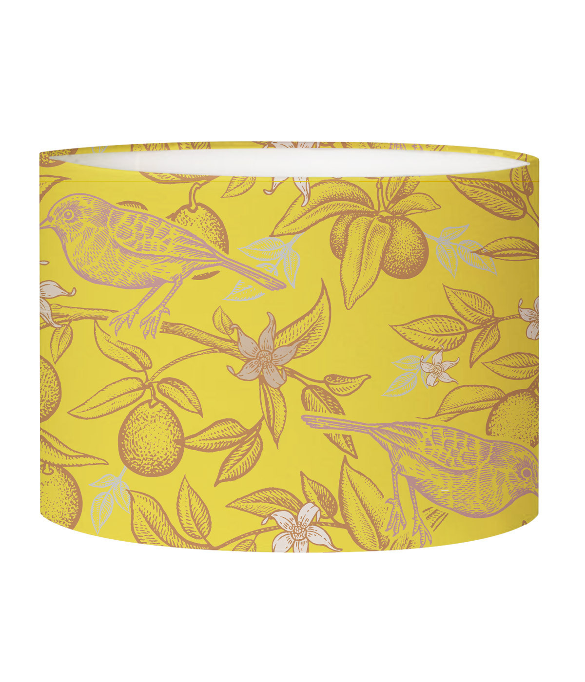 Abat-jour lampadaire jaune acidulé d 45 cm