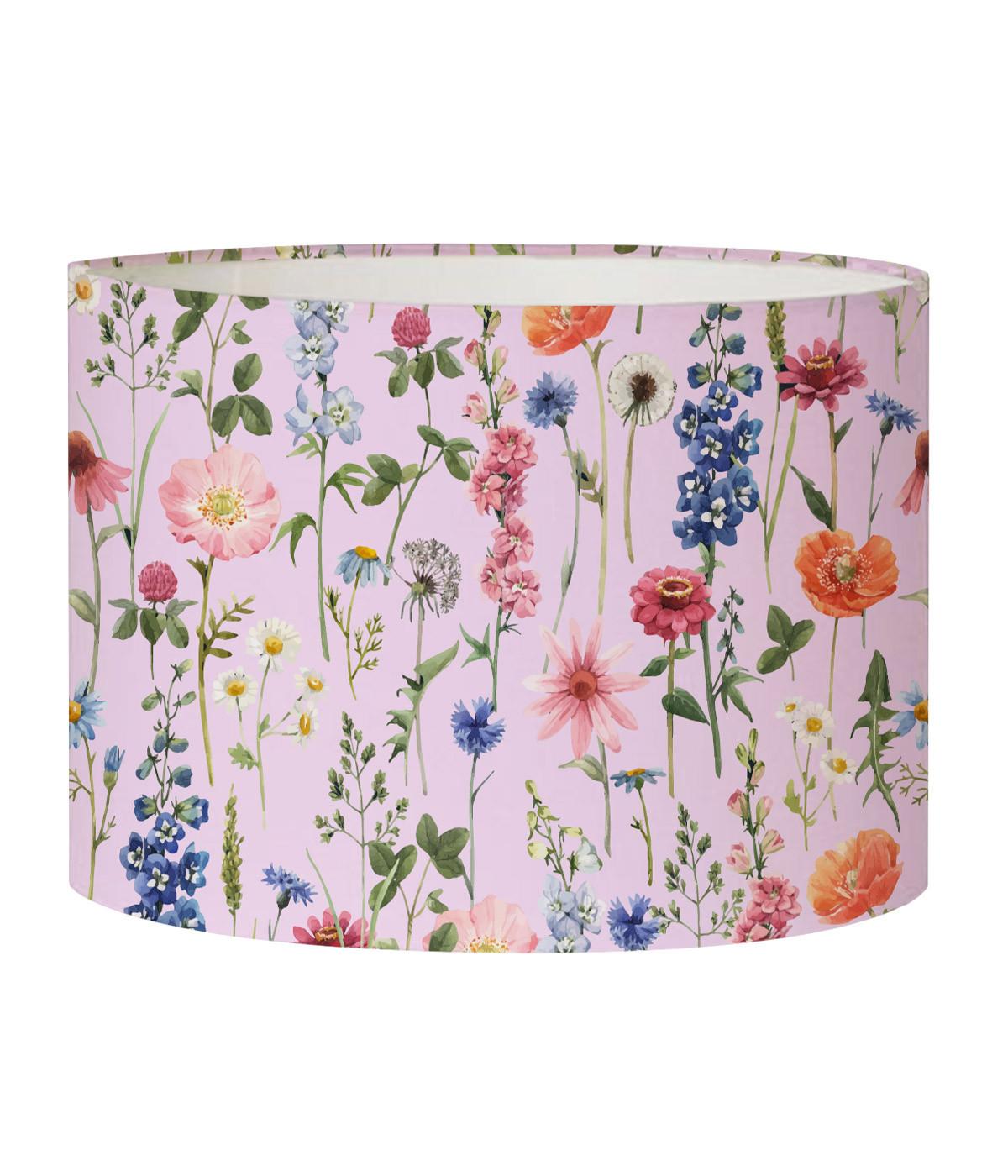 Abat-jour Lampadaire fleur rose acidulé D 45 x H 25