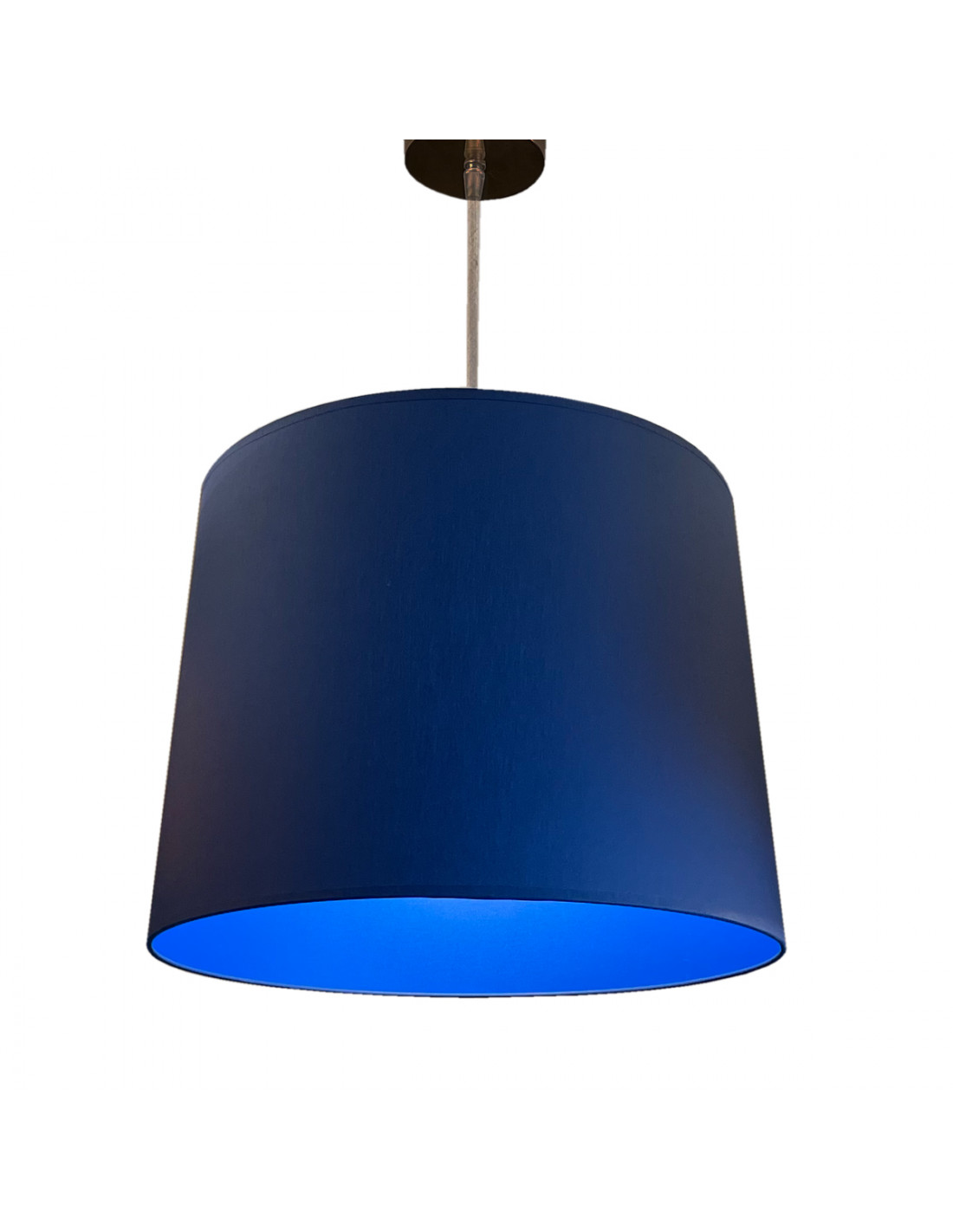 Suspension abat-jour bleu D 40 cm
