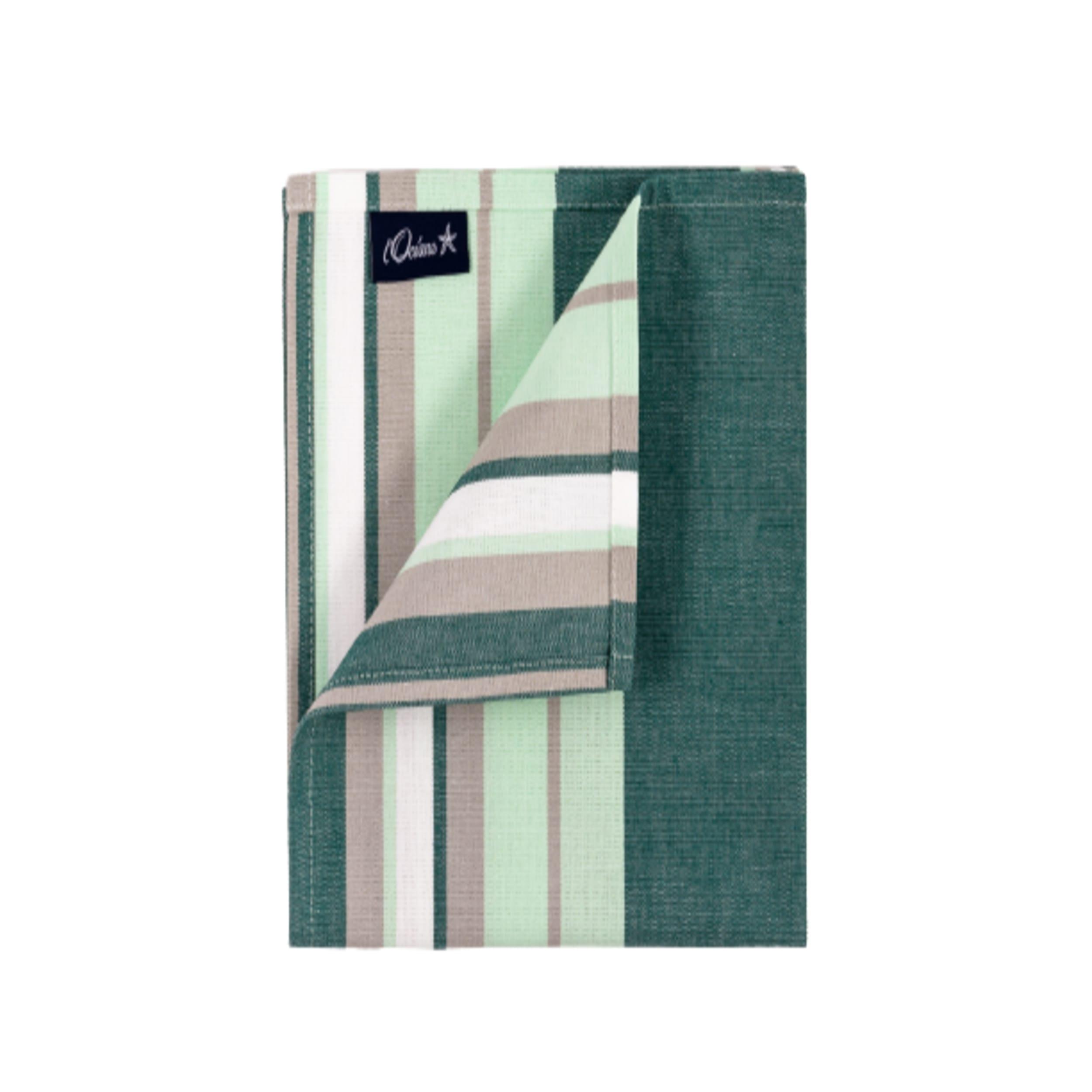 1 lot de 6 serviettes de table 100% coton vert 42 x 42 cm