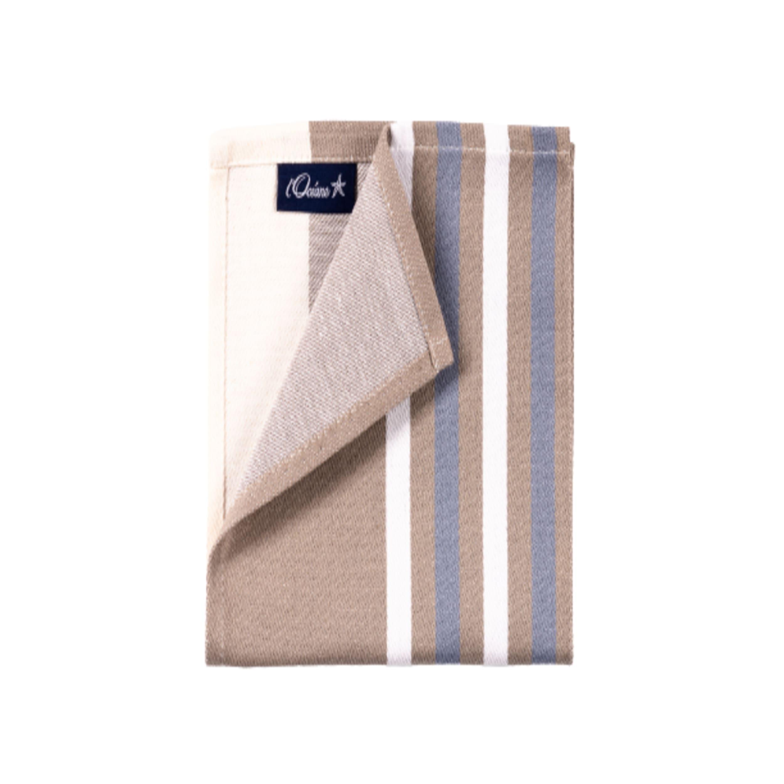 1 lot de 6 serviettes de table 100% coton de satin bleu 50 x 50 cm