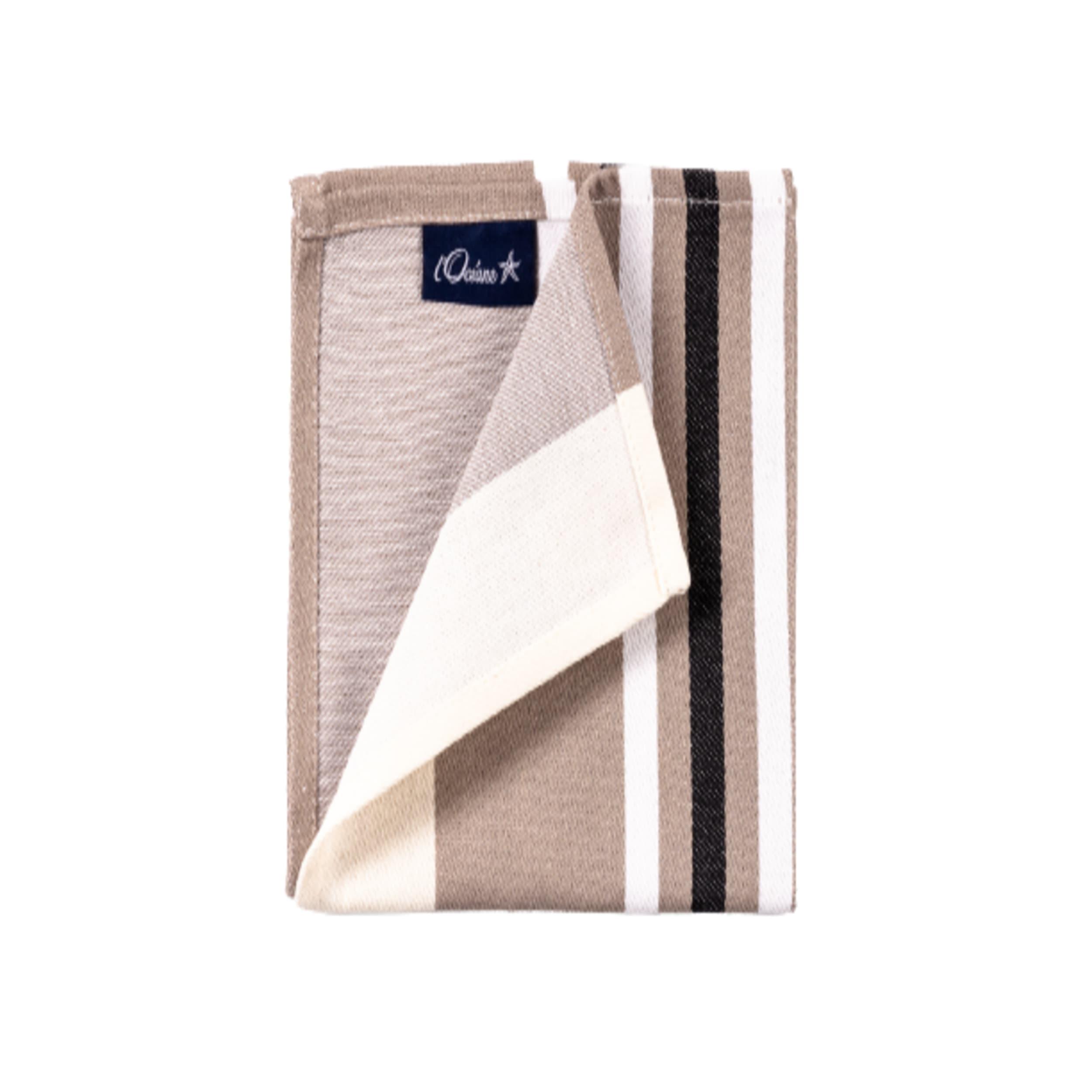 1 lot de 6 serviettes de table 100% coton de satin noir 50 x 50 cm