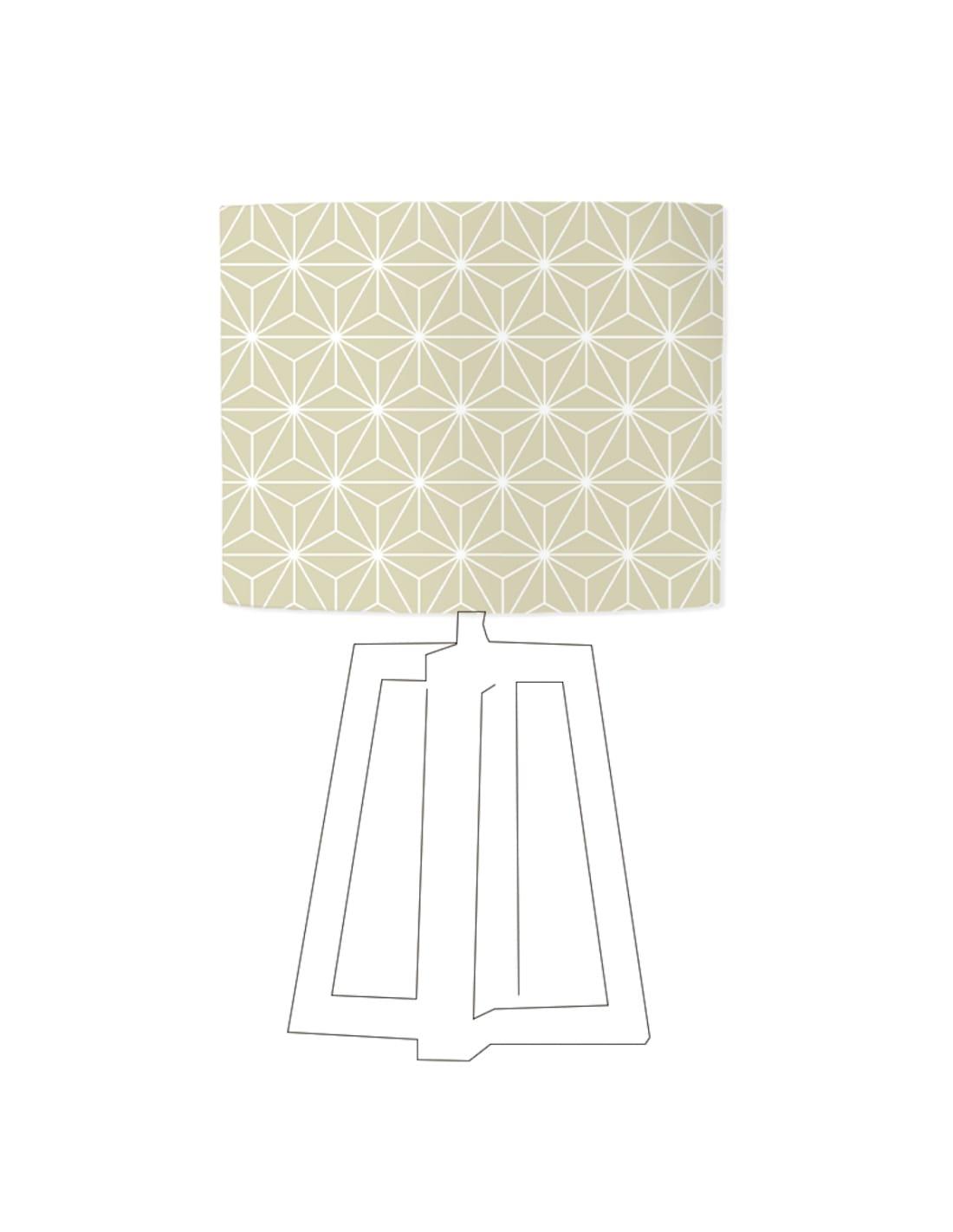 Abat-jour beige imprimé blanc d 80 cm