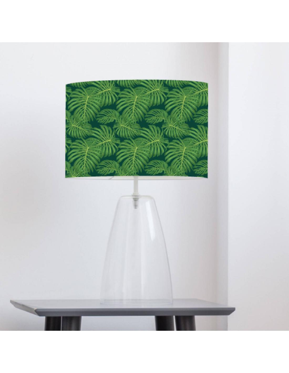 Abat-jour vert imprimé vert d 45 cm