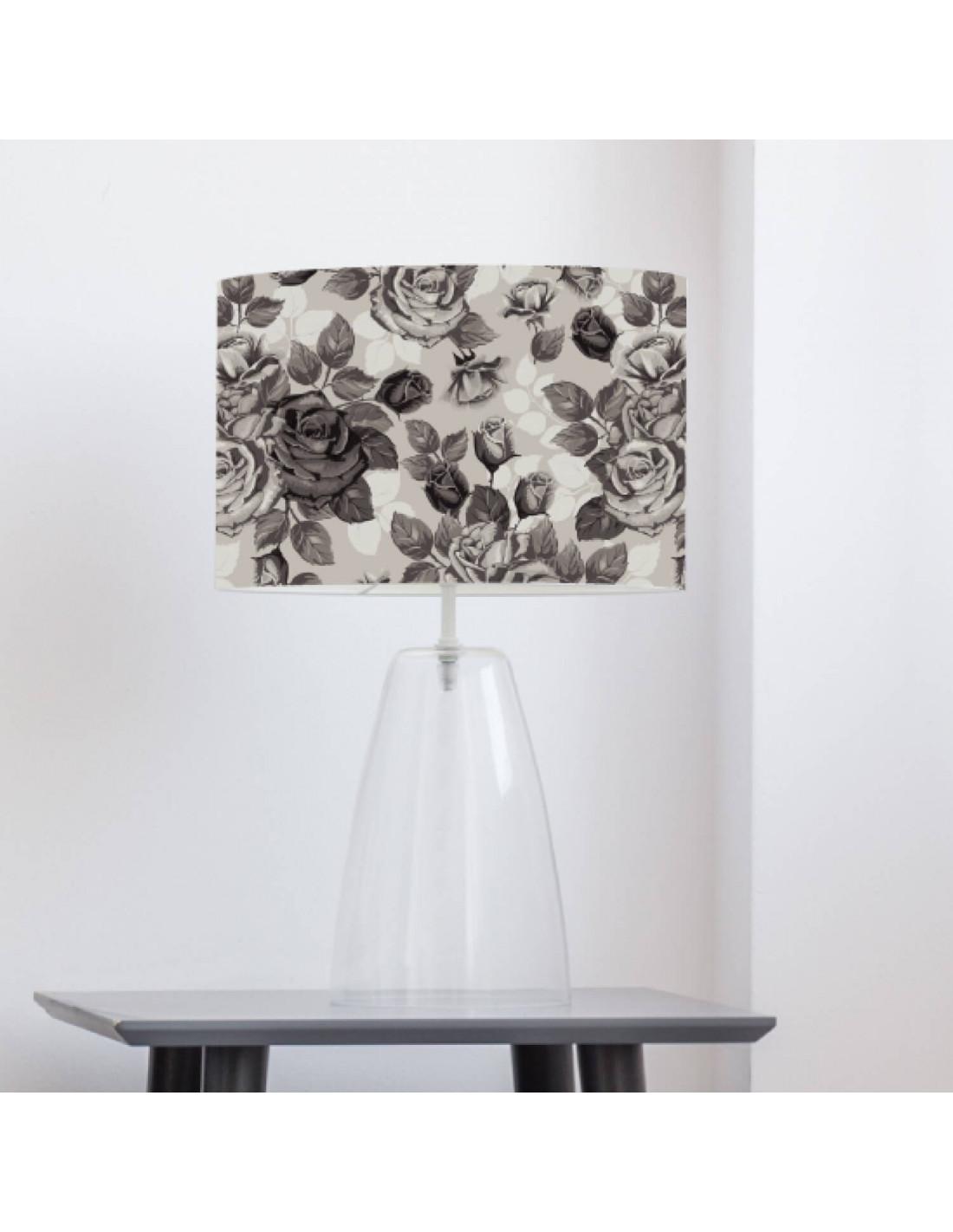 Abat-jour gris imprimé taupe d 100 cm