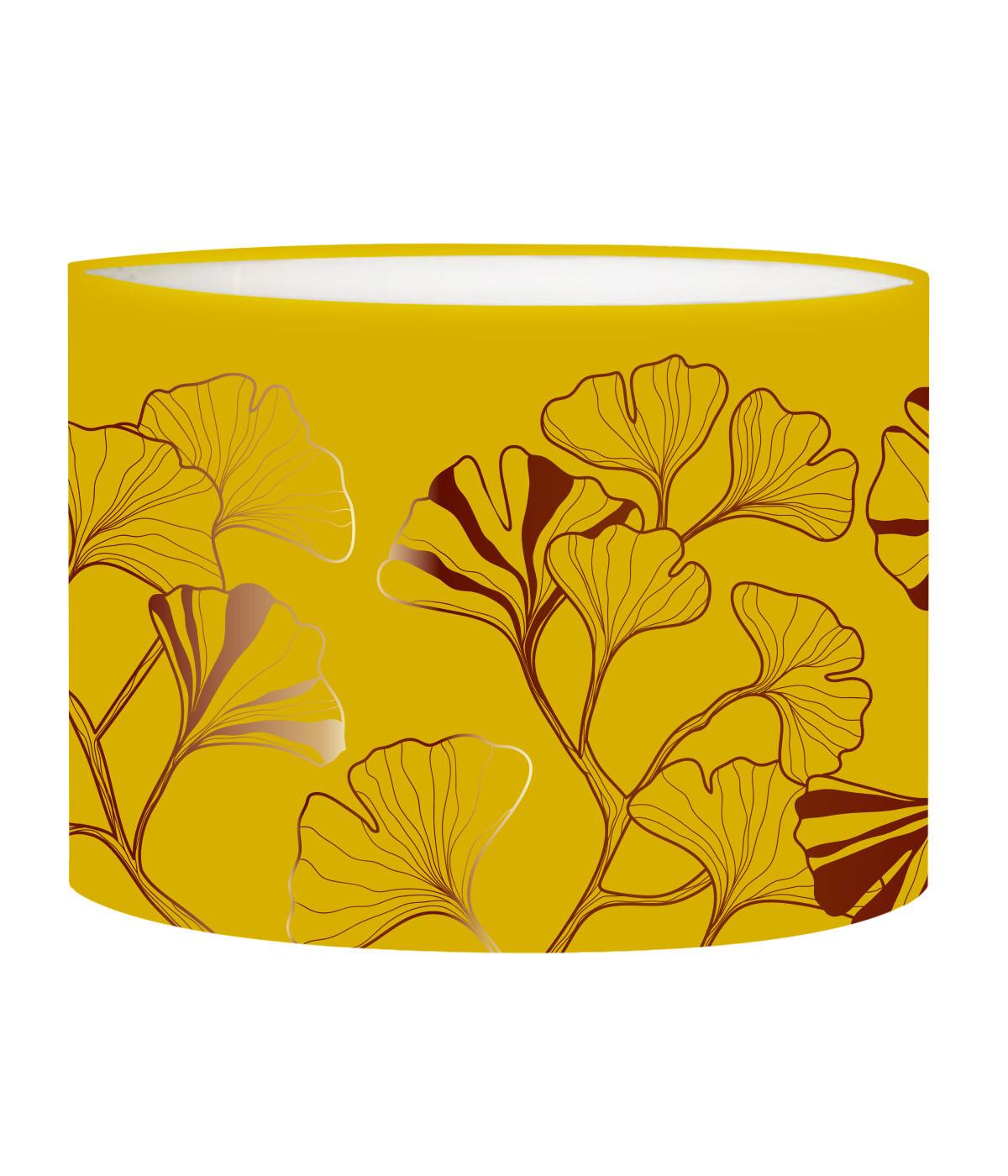 Abat-jour chevet Iris Jaune Moutarde D 25 x H 20