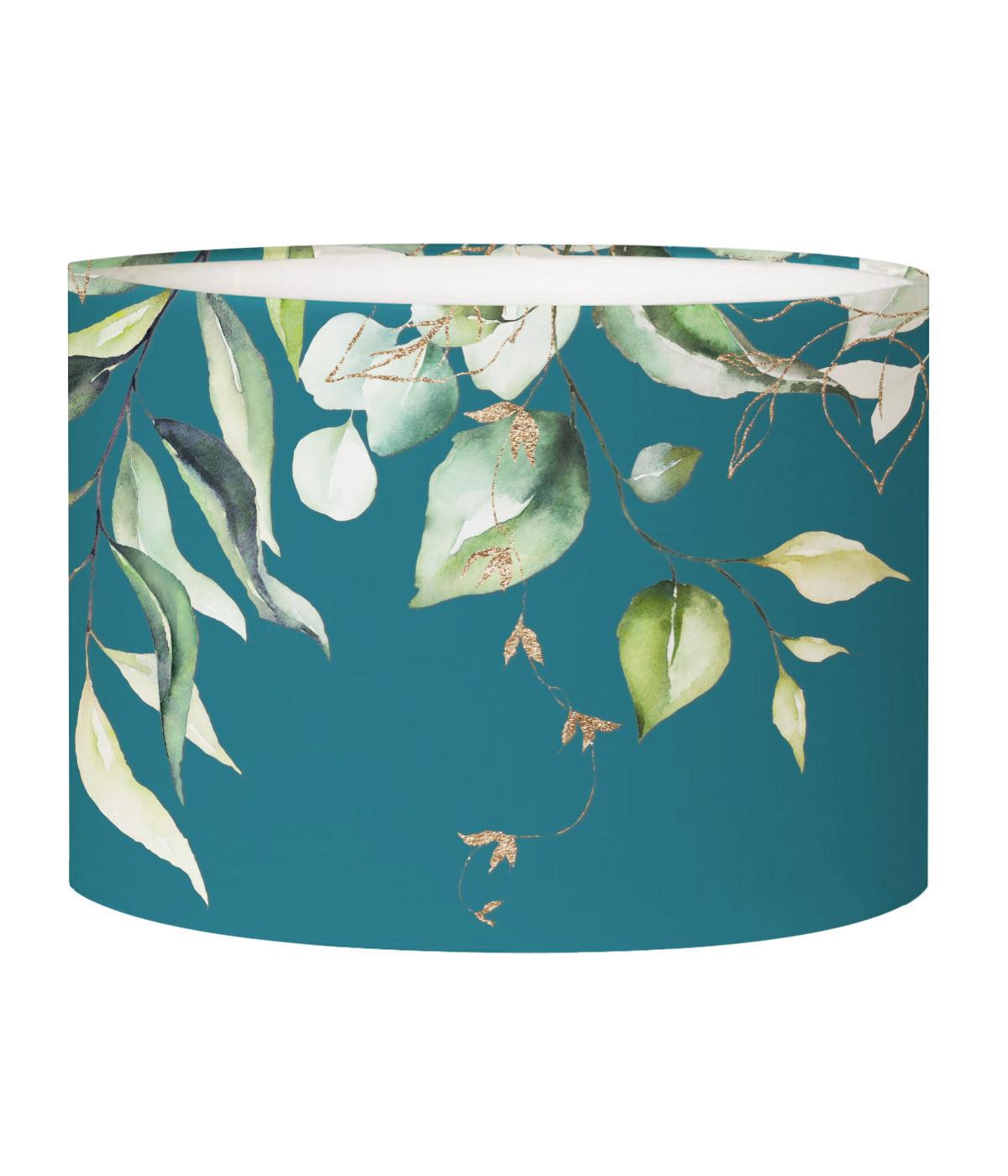 Abat-jour lampadaire bleu canard d 45 cm