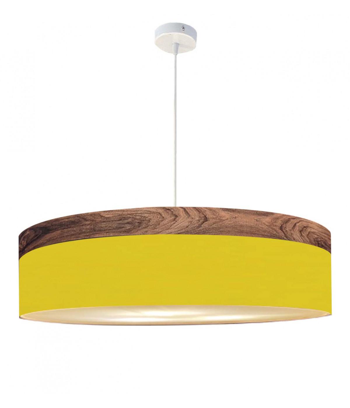 Suspension jaune d 65 cm
