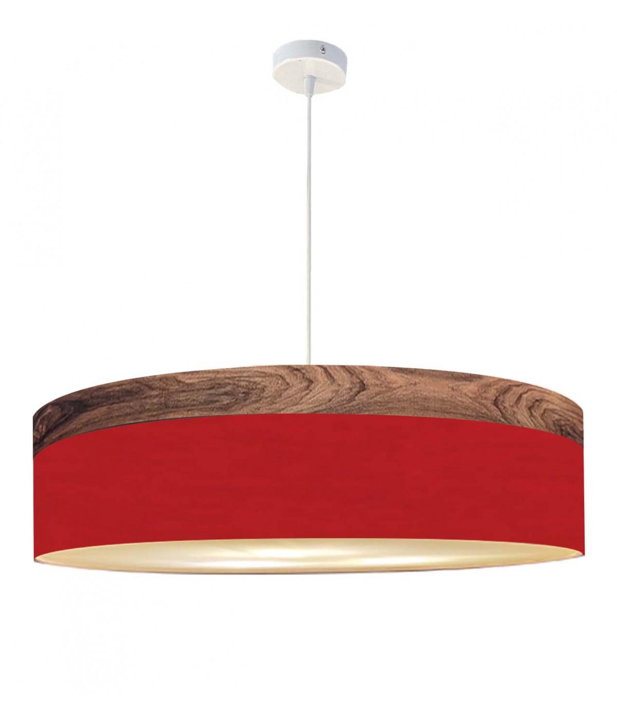 Suspension rouge d 65 cm