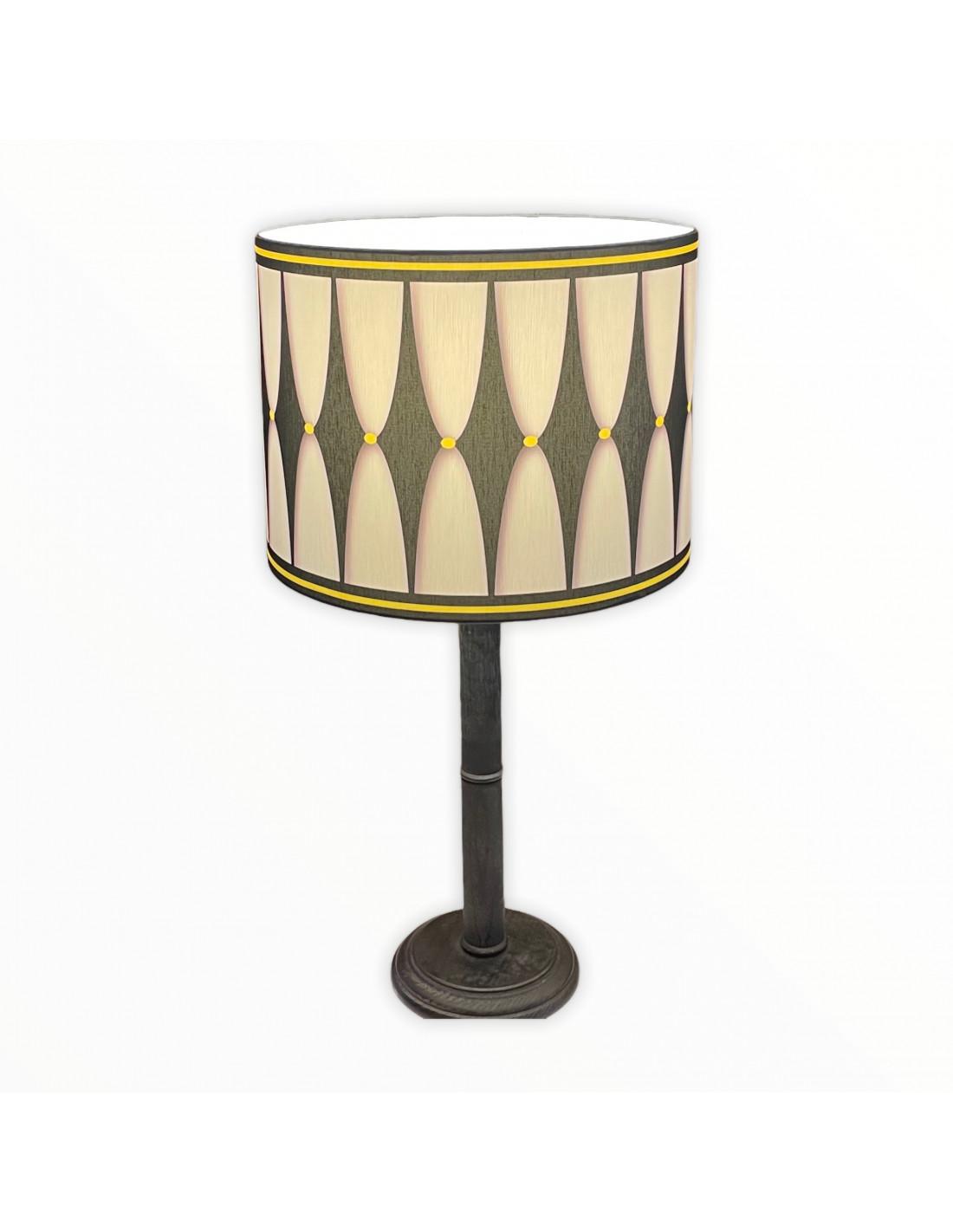 Lampe instant noir & jaune d 25 cm