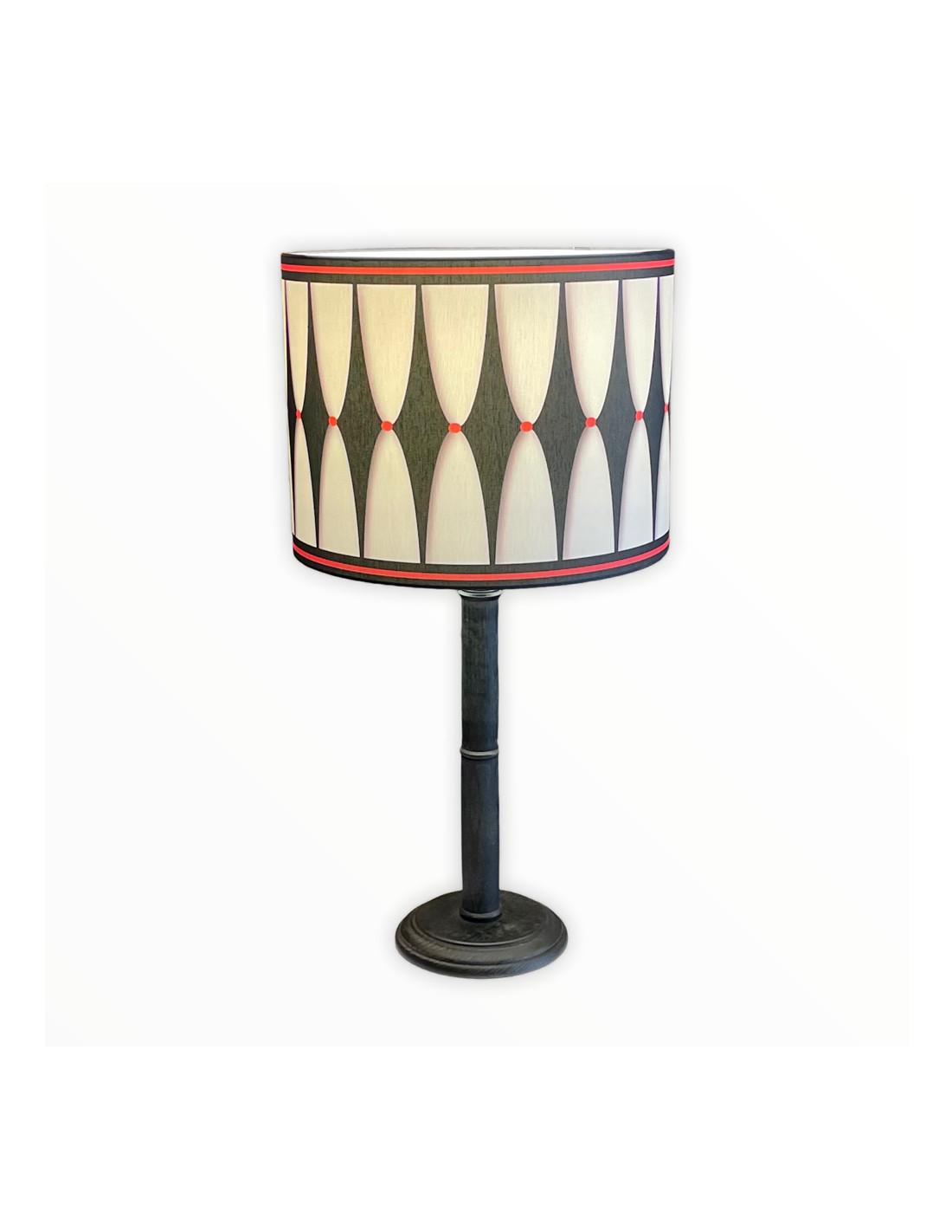Lampe instant noir & rouge d 25 cm