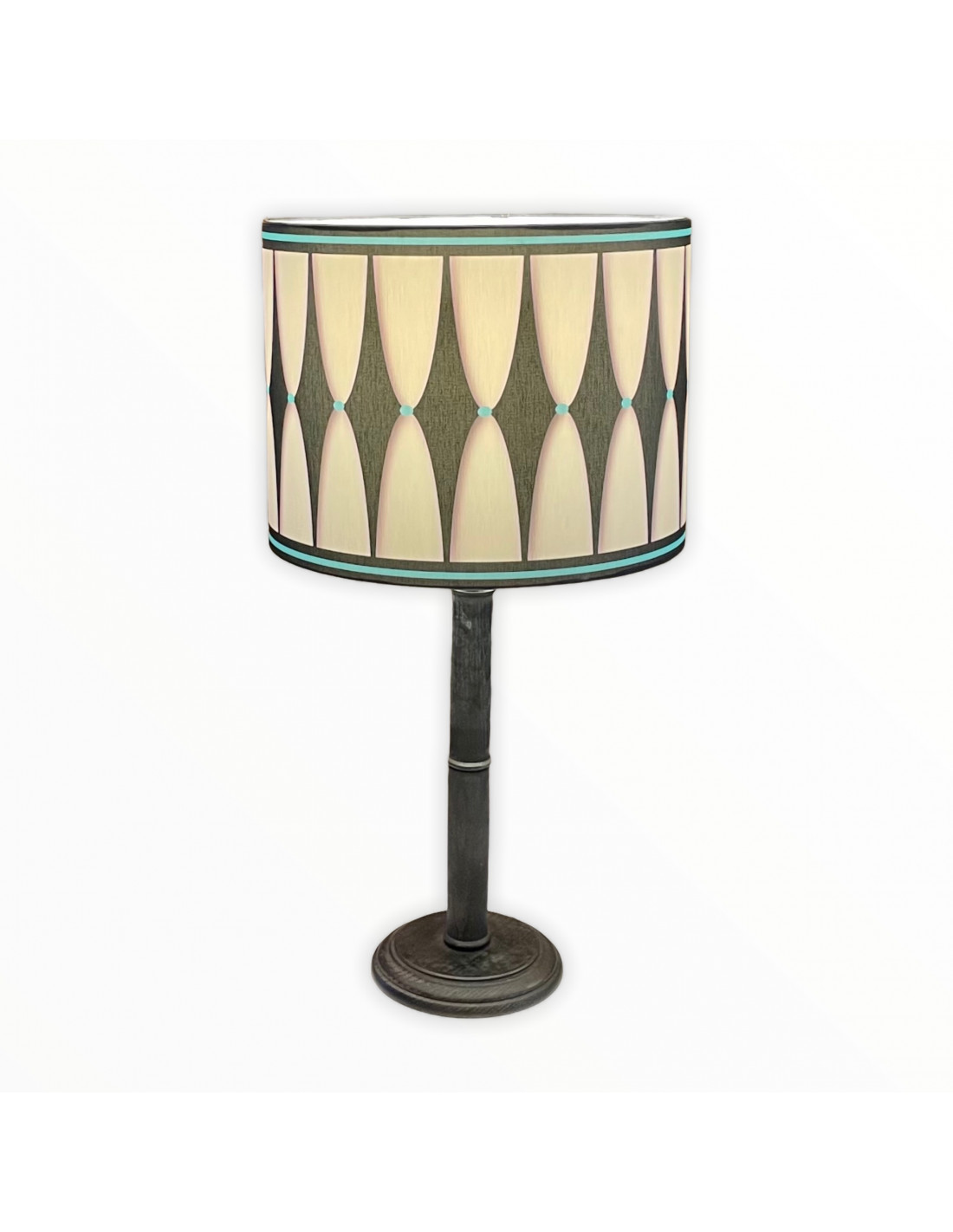 Lampe instant noir & bleu d 25 cm