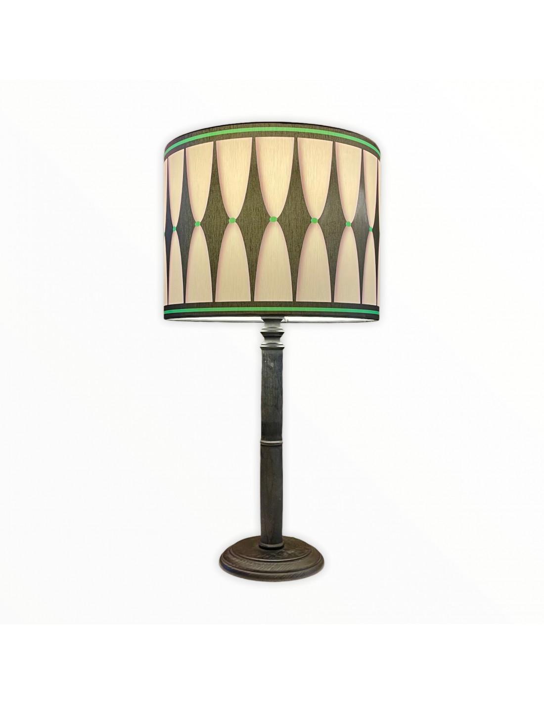 Lampe instant noir & vert d 25 cm