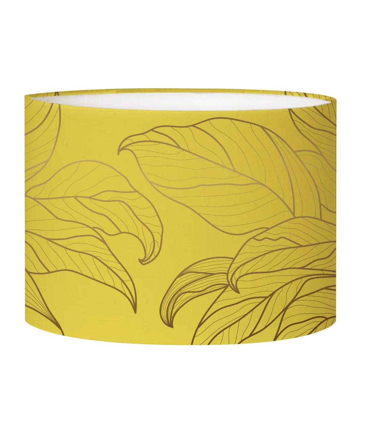 Abat-jour Lampadaire feuille jaune acidulé D 45 x H 25