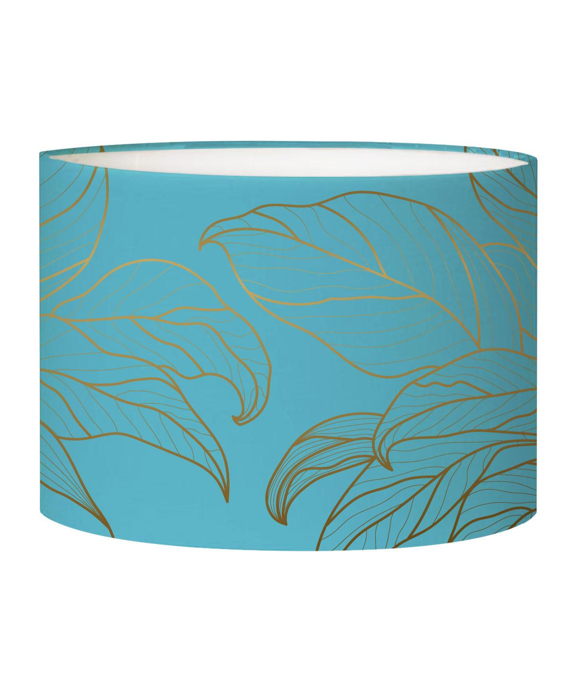 Abat-jour lampadaire bleu acidulé d 45 cm