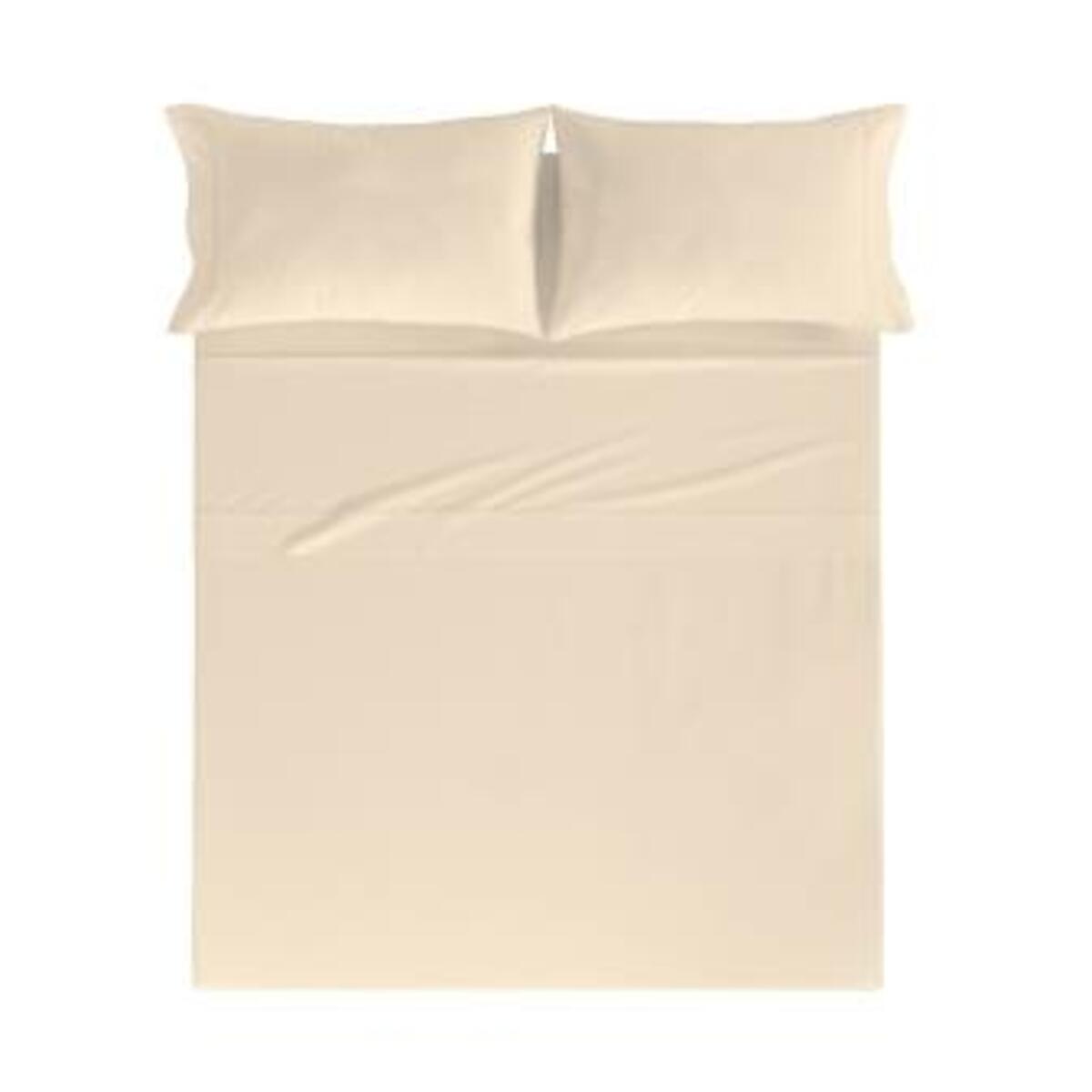 Drap de lit en coton percale crème 250x280