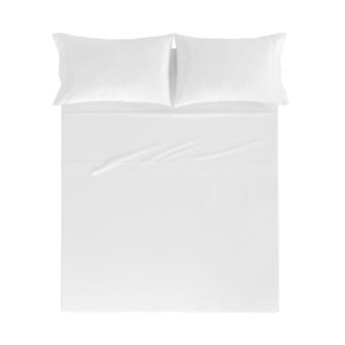 Drap de lit en coton percale blanc 160x280