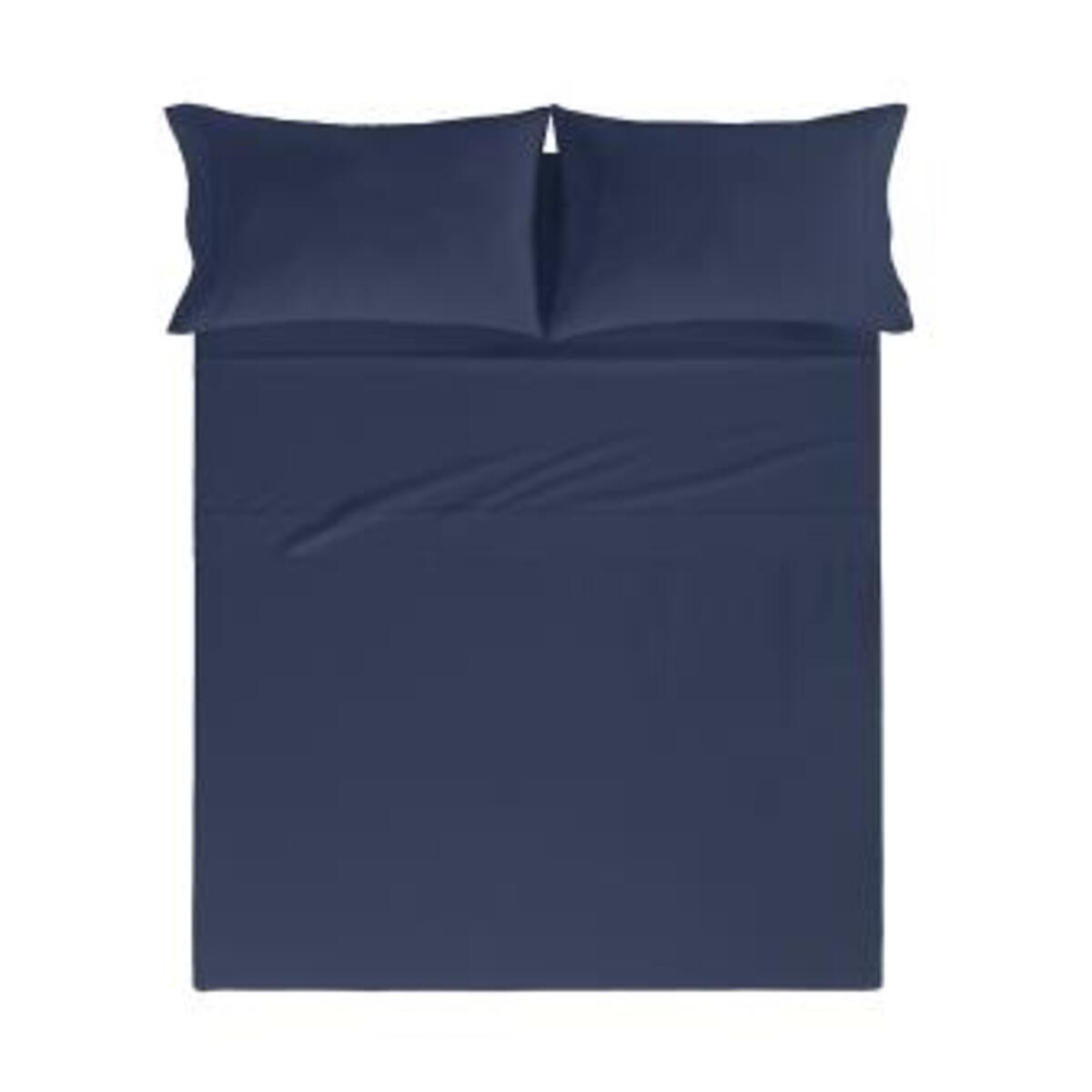 Drap de lit en coton percale marine 250x280