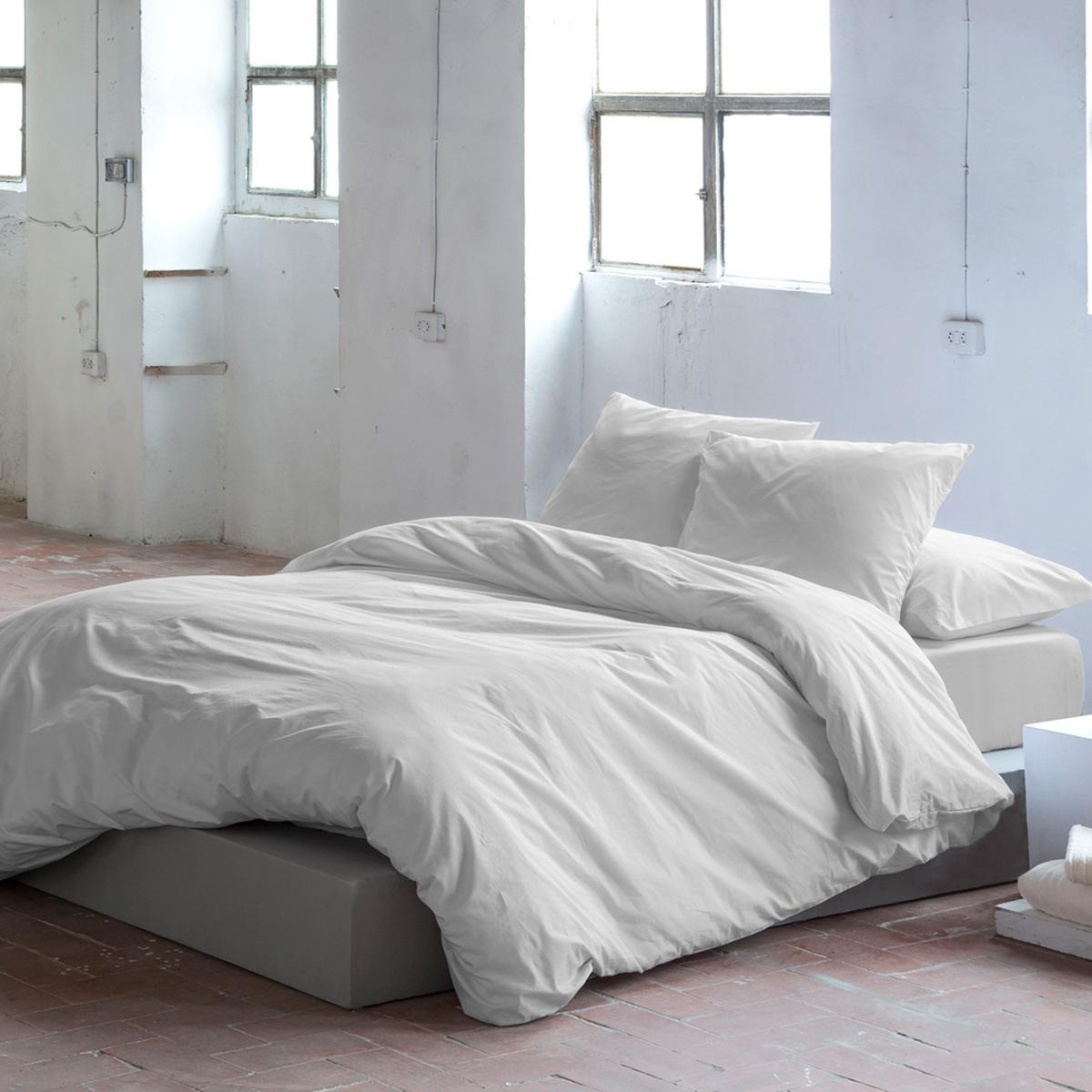 Housse de couette en coton gris 155x220 cm