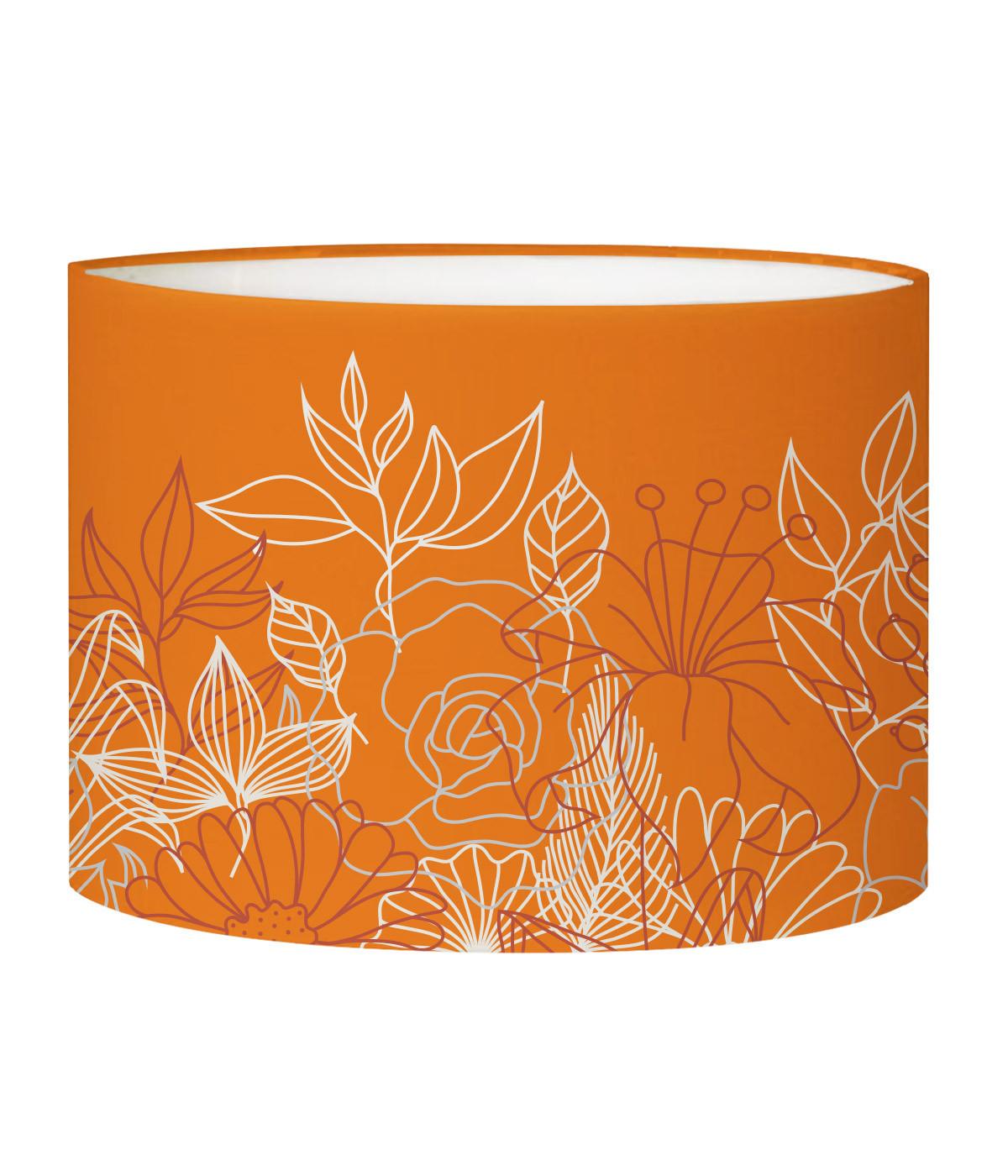 Abat-jour lampadaire mandarine d 45 cm