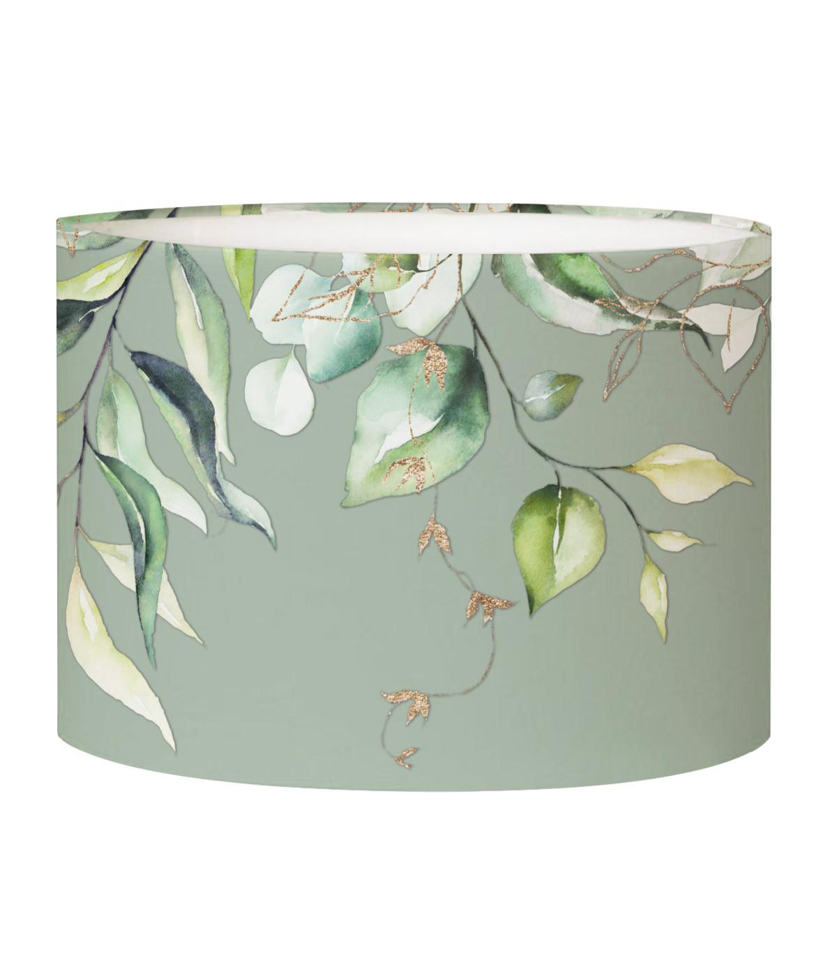 Abat-jour chevet Branche Vert Olive D 25 x H 20